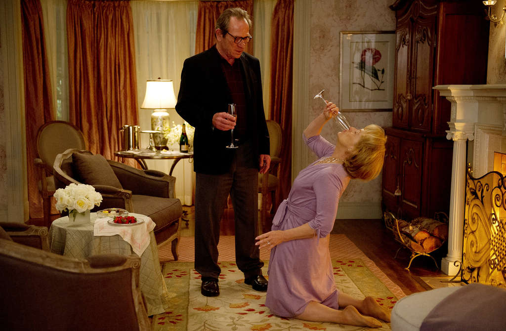 Tommy Lee Jones and Meryl Streep as the Soameses, who enter couples therapy after she buys a self-help book by a marriage counselor played by Steve Carell.
