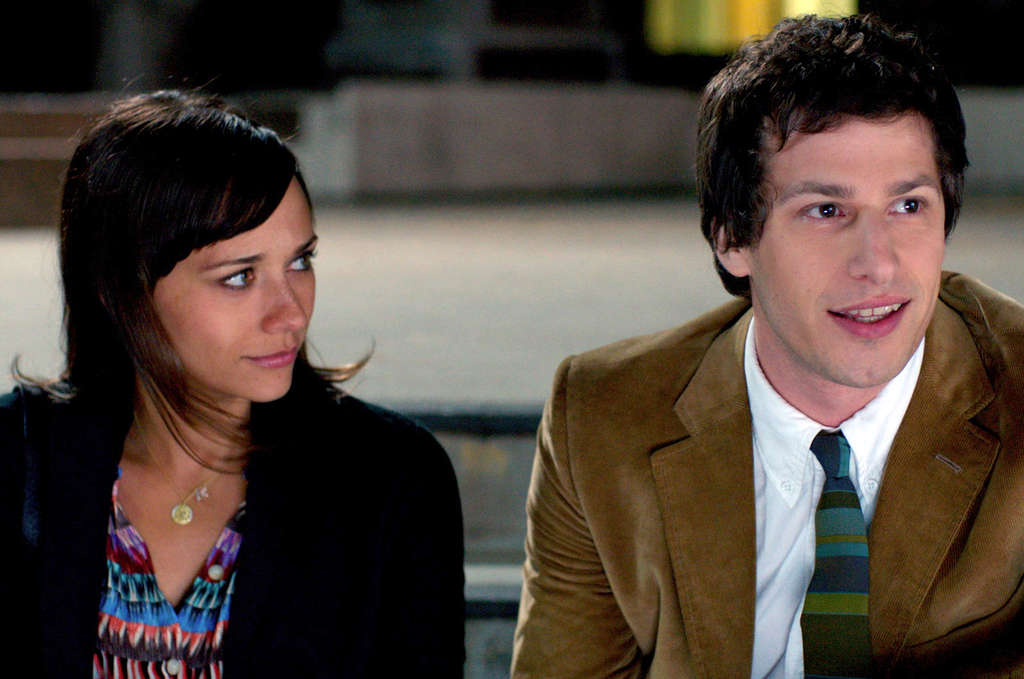 Rashida Jones is a hard-driving media consultant, and Andy Samberg her unambitious artist husband.
