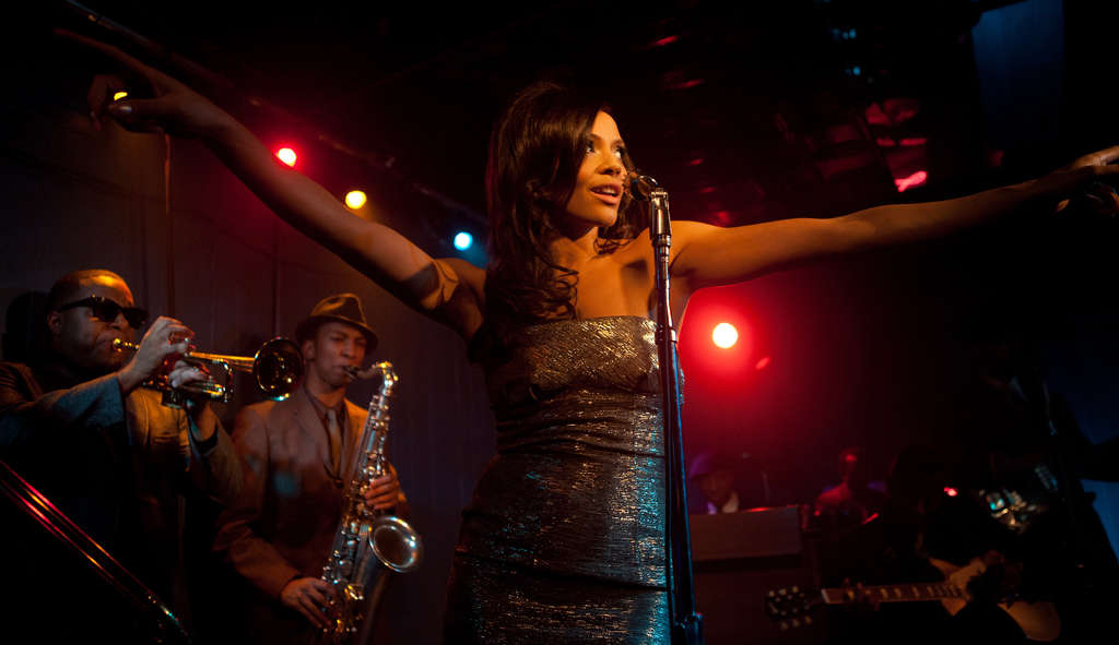 The sultry Carmen Ejogo steals the movie as lead singer Sister.