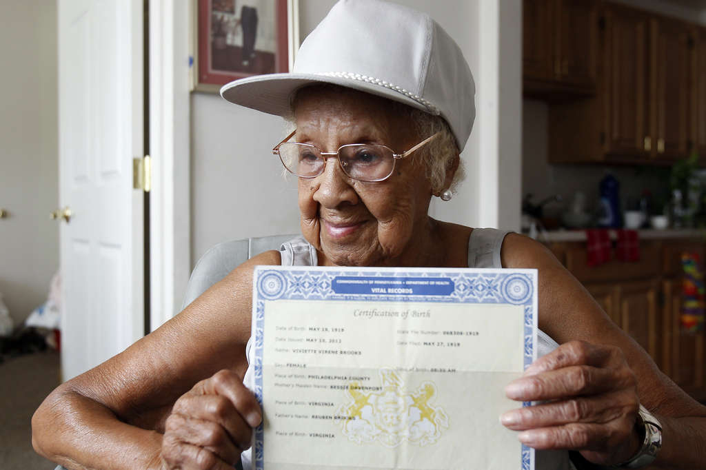 Viviette Applewhite, 93, got her identification - after a wave of media publicity about her case.