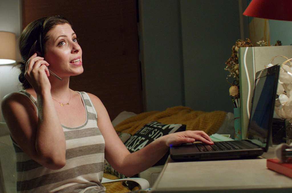 Lauren Miller plays a publishing professional who, having lost everything of importance, becomes a phone-sex worker.