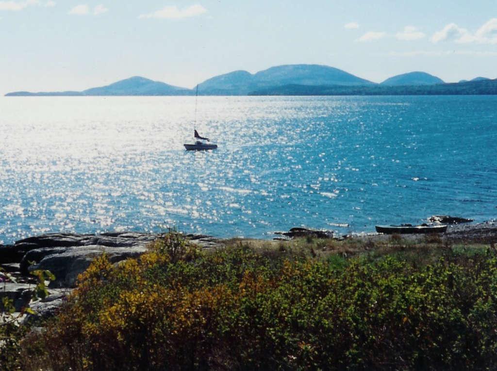 Mount Desert Island, viewed across Frenchman Bay.