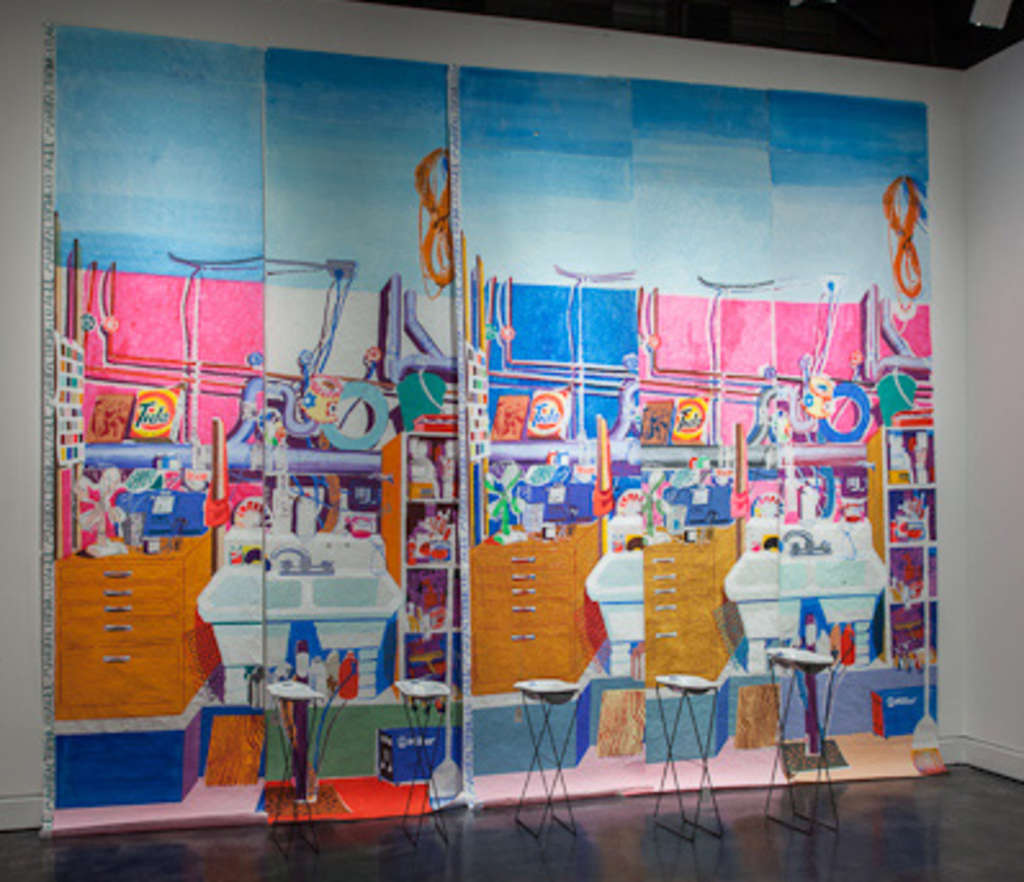 Ann Agee´s paintings of her Brooklyn studio, from her wide-ranging installation at Locks Gallery.