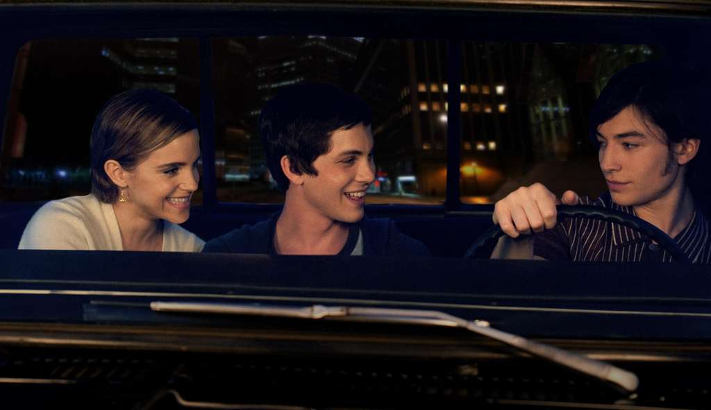 "Emma Watson (left), Logan Lerman (center) and Ezra Miller become friends in ""The Perks of Being a Wallflower."""