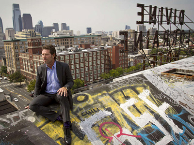 """I can´t believe it worked,"" said developer Eric Blumenfeld said after gaining title to the Divine Lorraine Hotel. ( MICHAEL S. WIRTZ / Staff Photographer)"