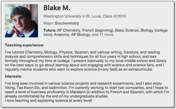 Student Biography Sample - Writing a Bio