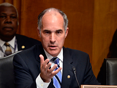 "Sen. Bob Casey at a foreign relations hearing. He says voters know him well enough not to buy the ""Senator Zero"" tag. TOM GRALISH / Staff Photographer"