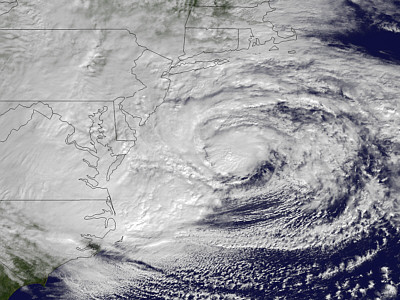The approach of Sandy; since then, quiet times for hurricanes.