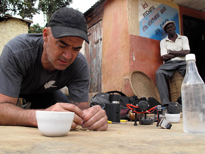 Watched by a Haitian grower, Todd Carmichael, cofounder of Philly´s La Colombe, brews a first taste of the coffee. In a new TV series, he hunts for little-known bean sources. Travel Channel