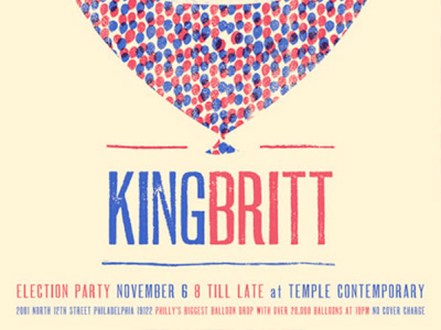 Temple Contemporary invites you to a historic election night bash, featuring the musical curation of Philadelphia's own King Britt.