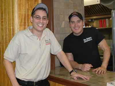David (left) and Michael Frank of Del Rossi´s Cheesesteak Co.