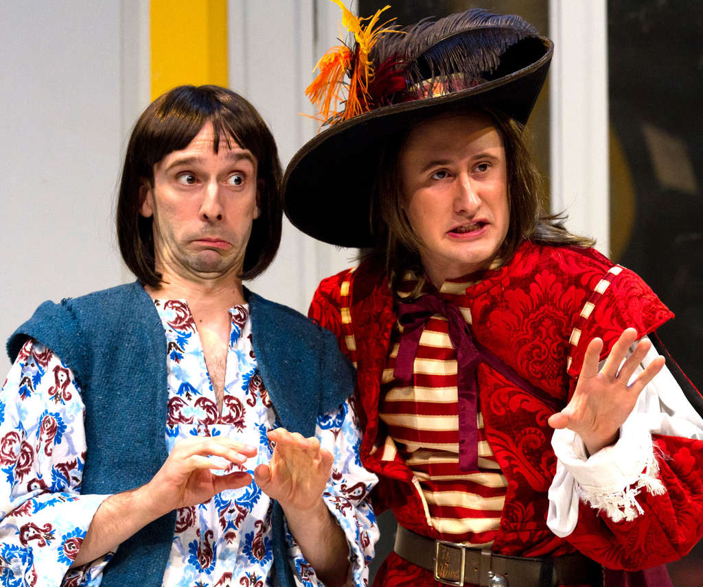 "Dave Johnson (left) and Aubie Merrylees are among the cast of the Lantern Theater Company´s production of ""The Liar."""