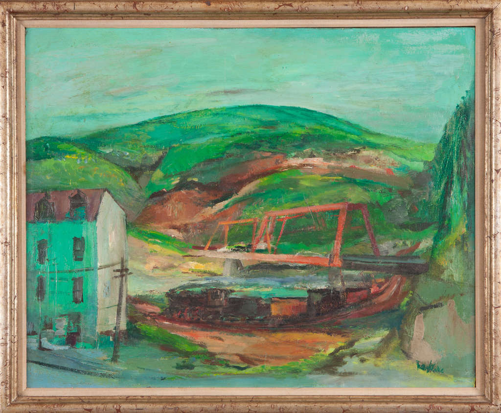 "Kline´s earlier paintings, such as ""Pennsylvania Landscape,"" from 1948-49, showed dark, moody, suggestively expressionist tendencies."