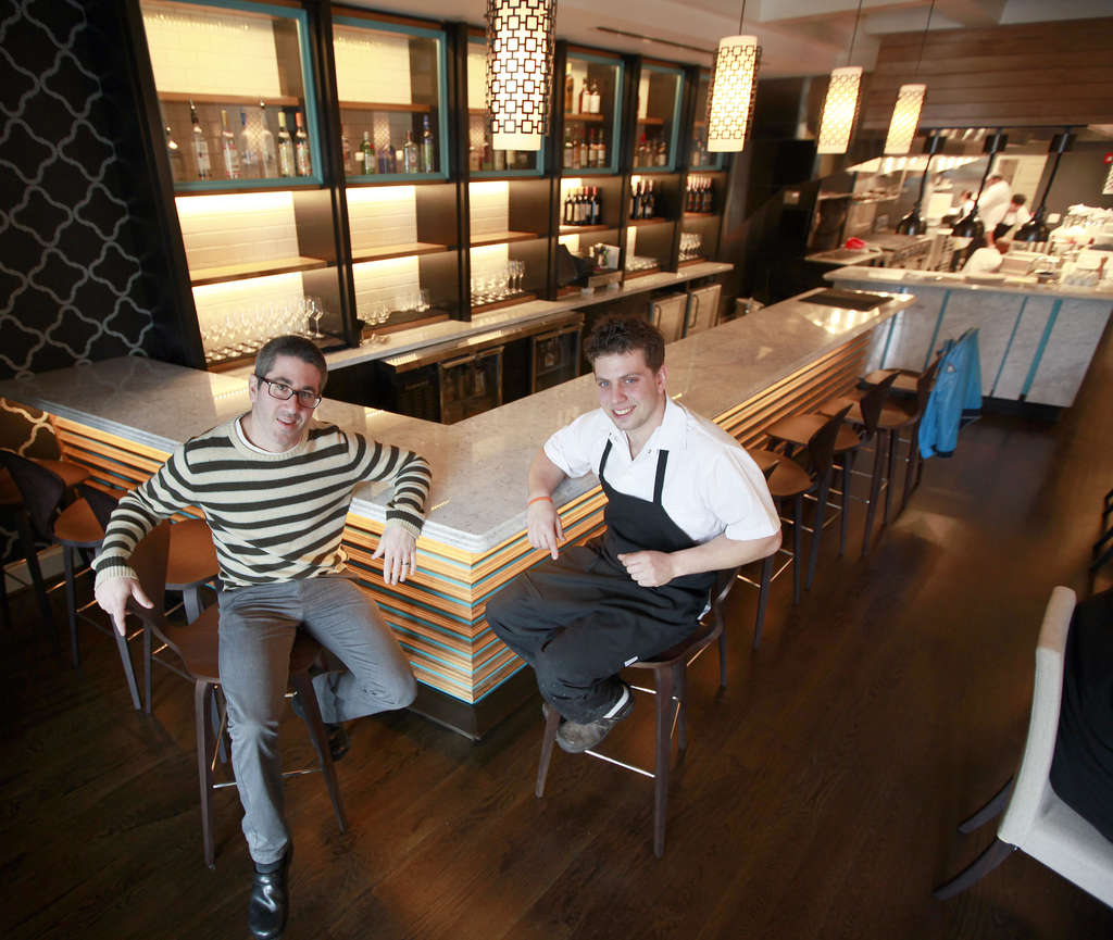 Chefs Michael Solomonov, Yehuda Sichel in the dining room of Citron & Rose.