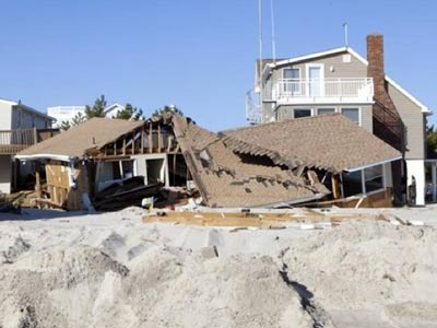 Real Estate on The Aftermath Of Hurricane Sandy In The Holgate Section Of Long Beach