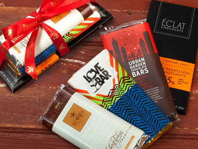 Any fan of dark chocolate will love this gift of locally made candy bars,ranging from semisweet to bittersweet.