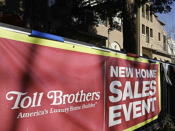 Toll Brothers said it is seeing some encouraging signs of a housing sector recovery.