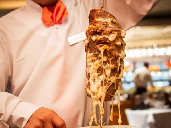 Chima´s cheesesteak on a stick.