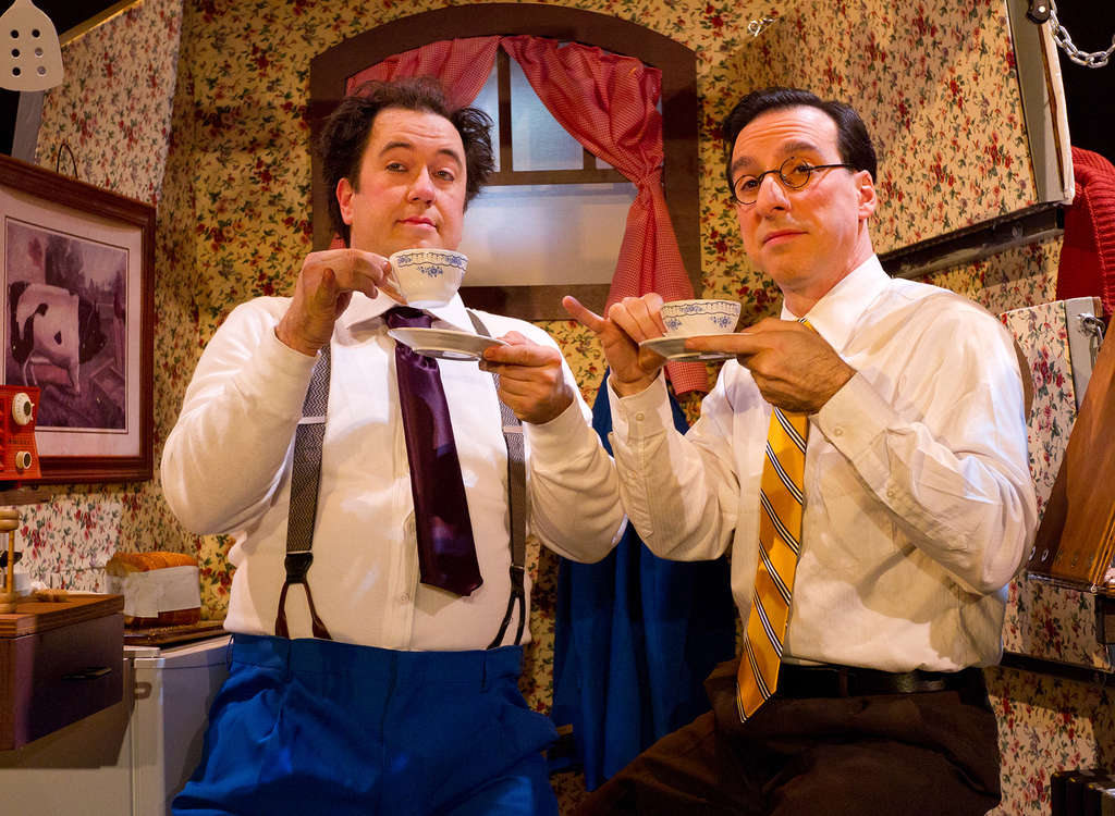 Aaron Cromie (left) and Dave Jadico are the creators of the 70-minute silent comedy as well as its performers.