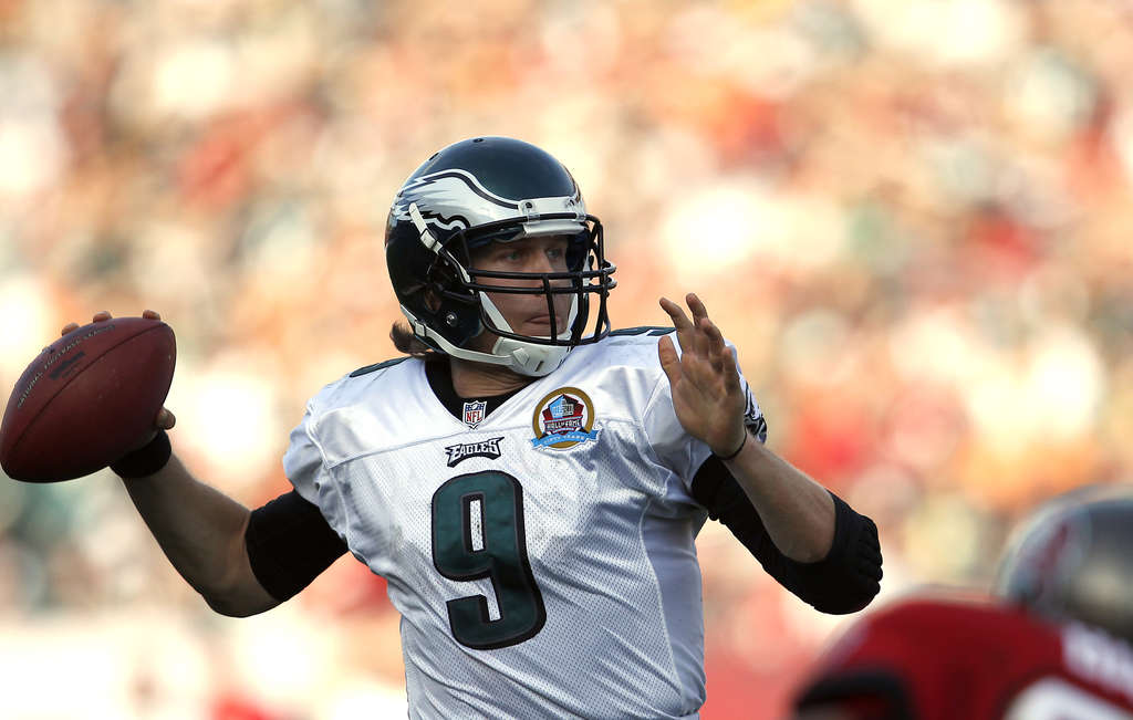 Birds of a feather? Eagles quarterback Nick Foles, above, and Bobby Hoying, below, invite comparisons. Hoying excited the faithful with several strong performances late in 1997 before fizzling out a year later. Could Foles meet the same fate?
