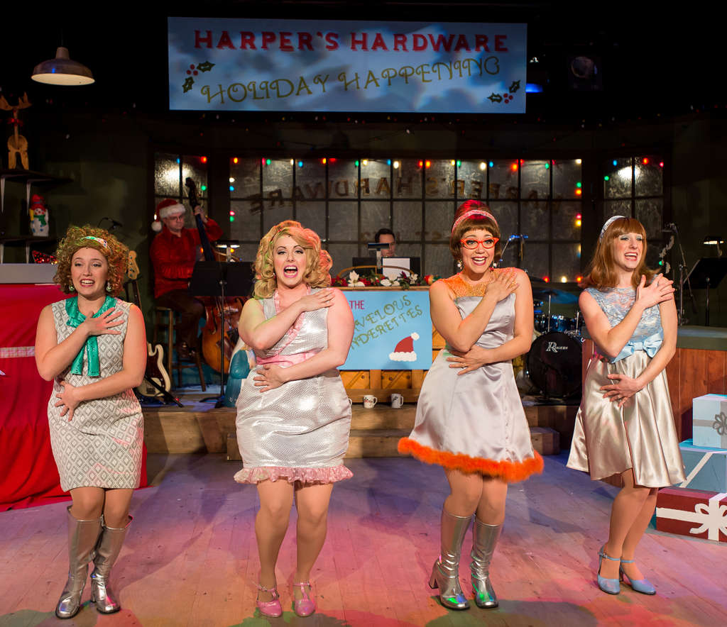 "The cast of ""Winter Wonderettes"" includes (from left) Kat Borrelli, Laura Catlaw, Rachel Camp, and Janet Rowley."