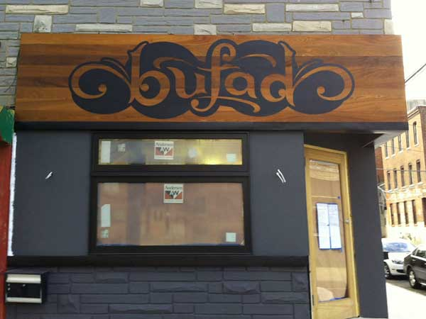 Bufad, at 13th and Spring Garden Streets, on Dec. 15, 2012.
