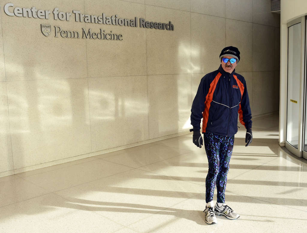 Garret FitzGerald , Penn pharmacology professor, has completed 25 marathons. TOM GRALISH / Staff Photographer