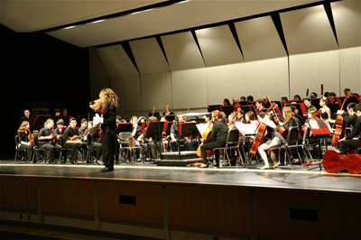 More than 2,000 students from the Philadelphia, Lower Merion and Chester Upland school districts perform in the 2012 Maestro the Lion children's concert or participate in its program. (Courtesy Lower Merion School District)