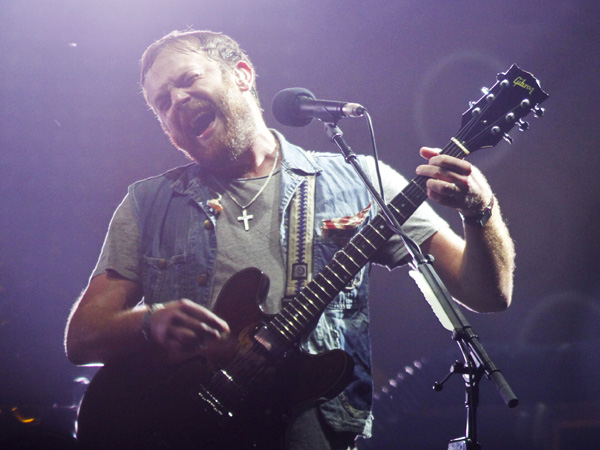Kings Of Leon´s Caleb Followill performs on Day 5 of the 2013 Austin City Limits Music Festival at Zilker Park on Saturday, Oct. 12, 2013 in Austin, Texas. (Photo by Jack Plunkett/Invision/AP)
