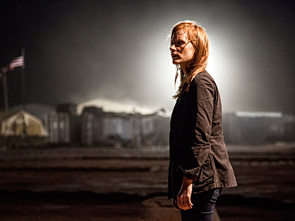 "Jessica Chastain plays an elite operative hunting Osama bin Laden in ""Zero Dark Thirty"". JONATHAN OLLEY / Columbia Pictures"