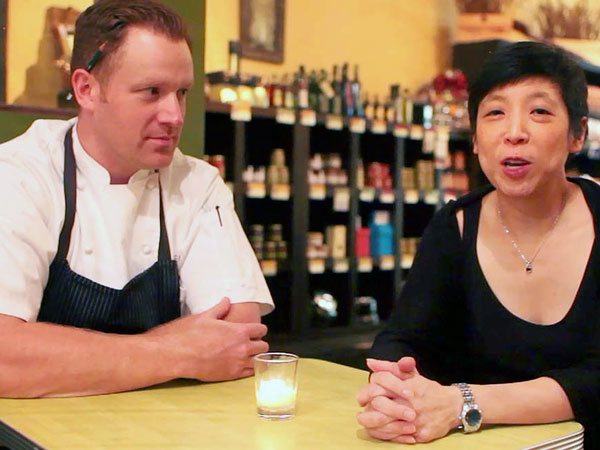 Chef Eli Kulp with Fork co-owner Ellen Yin.