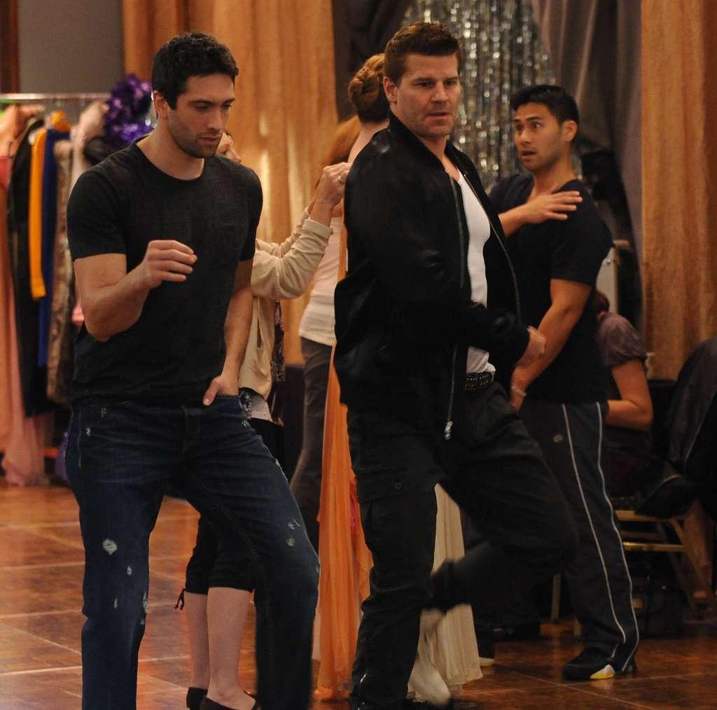 "With Dmitry Chaplin on the ""Bones"" season premiere, set during a TV dance show."