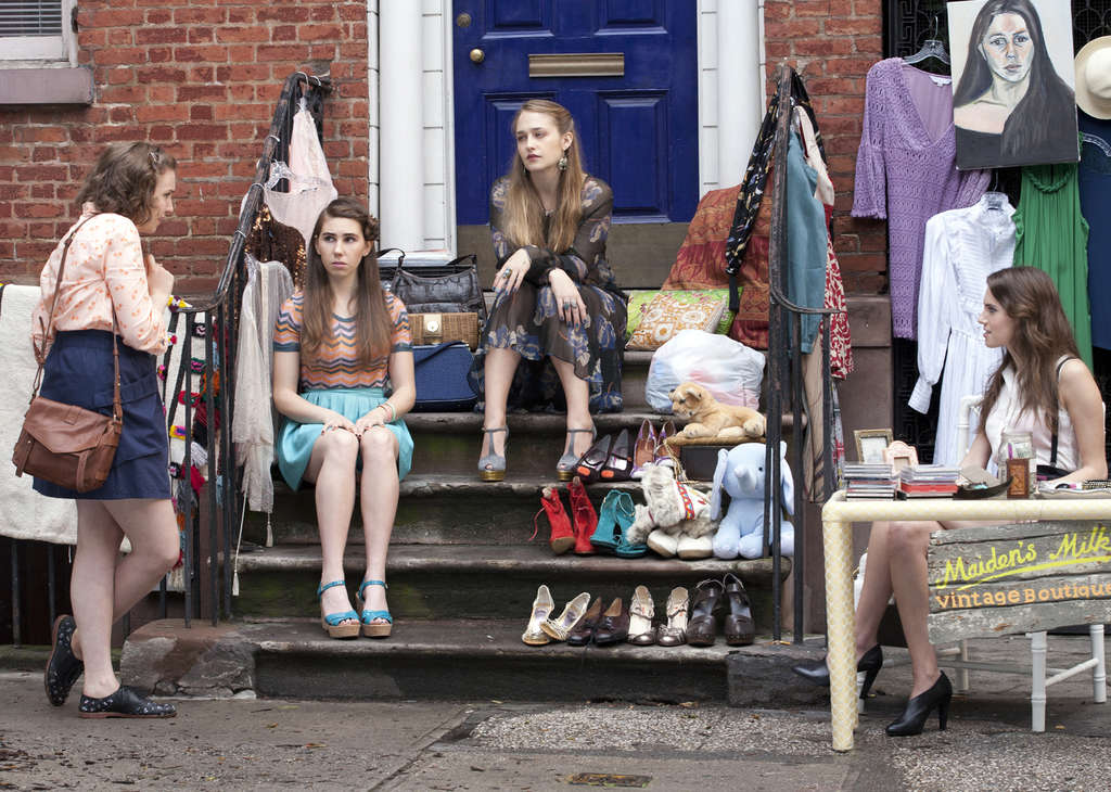 """HBO´s """"Girls"""" focuses on Brooklyn friends played by (from left) Lena Dunham, who also created the series; Zosia Mamet; Jemima Kirke; and Allison Williams. The characters are ushered through one depressing debacle after another."""