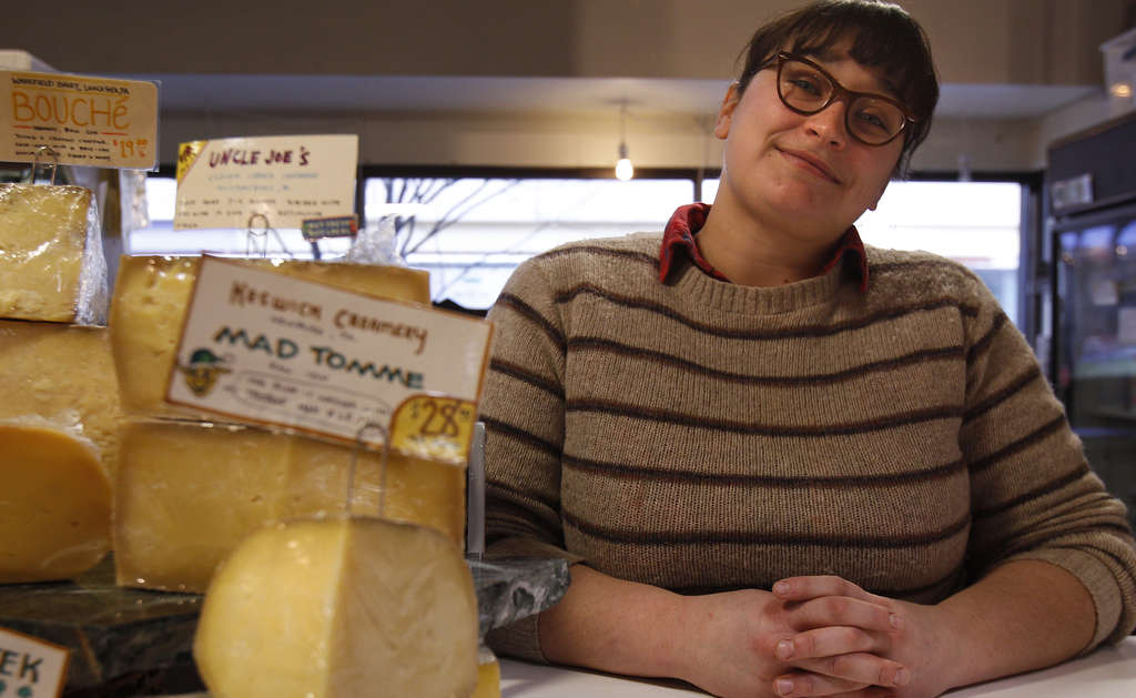 """Alex Jones of the Fair Food Farmstand: using locally brewed beer is """"just another expression of the cheese's terroir."""""""