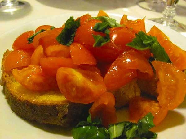 Bruschetta (pronounced: broo-sket-ah).