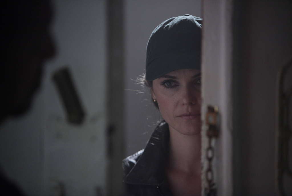 Keri Russell as the wife combines espionage with running a business and raising two kids. She is the more committed agent; her mate (Matthew Rhys) is more conflicted. CRAIG BLANKENHORN / FX