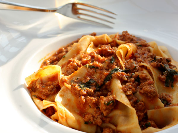 Pappardelle Bolognese, as served at Savona in Gulp Mills.  MICHAEL BRYANT / Staff Photographer
