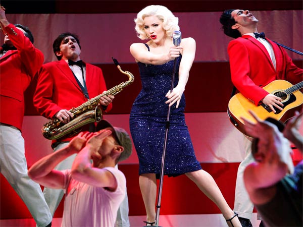 "On ""Smash,"" Katharine McPhee stars as luminous Karen Cartwright in the show-within-a-show ""Bombshell."""