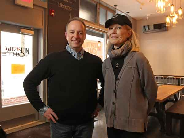 Wendy Born and James Barrett. at their new Metropolitan Cafe, ( MICHAEL BRYANT / Staff Photographer  )