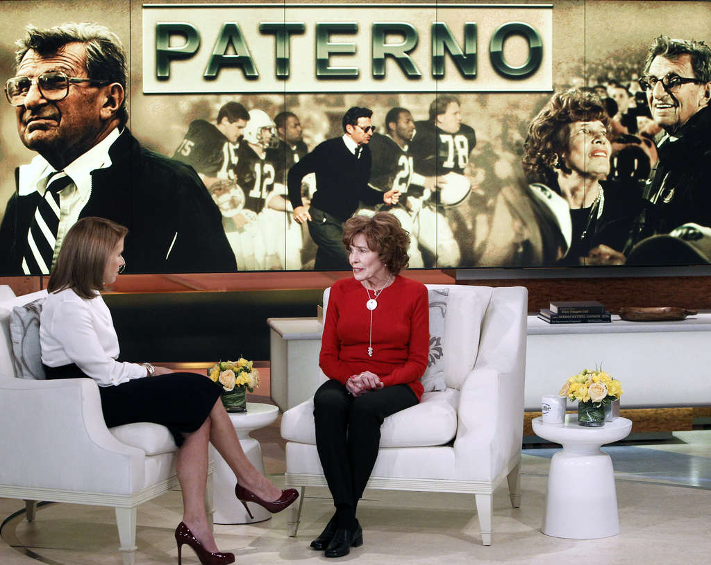"""In an email to PSU players, Joe Paterno´s widow, Sue, who spoke with Katie Couric for an episode of her talk show airing Monday, called Freeh´s report an """"extraordinary attack on Joe´s character and integrity."""""""