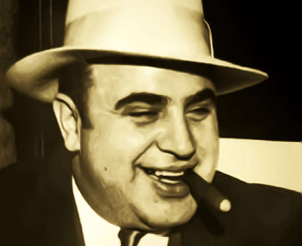 Al Capone: His passion for beer was a little on the extreme side.