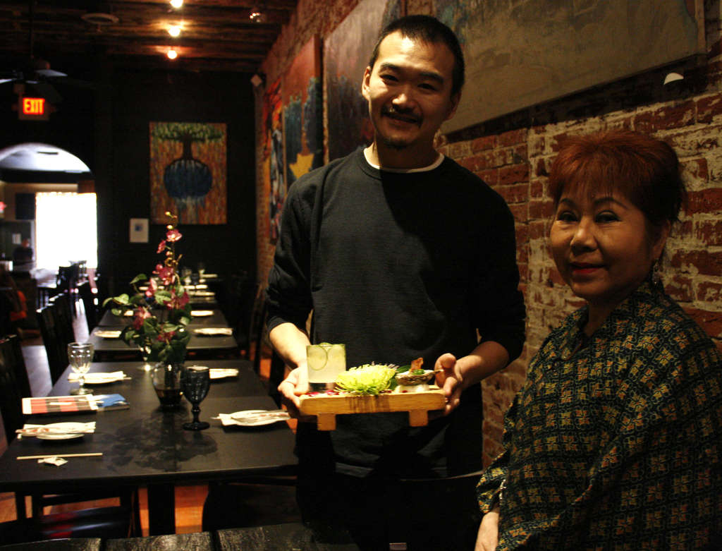 Madame Saito is helping her old friend Ryo Igarashi by lending him her space at 122-124 Lombard St. for the pop-up.