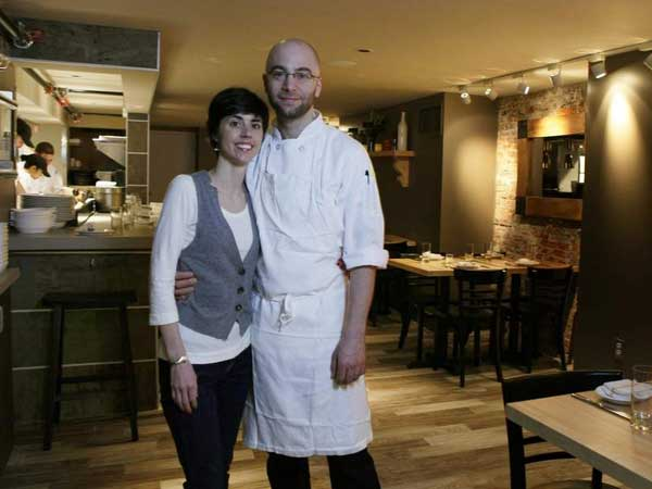 Greg and Julie Vernick at their restaurant, 2031 Walnut St.  MICHAEL S. WIRTZ / Staff Photographer