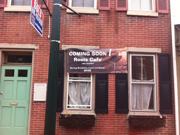 Future Roots Cafe on Gay Street in West Chester.