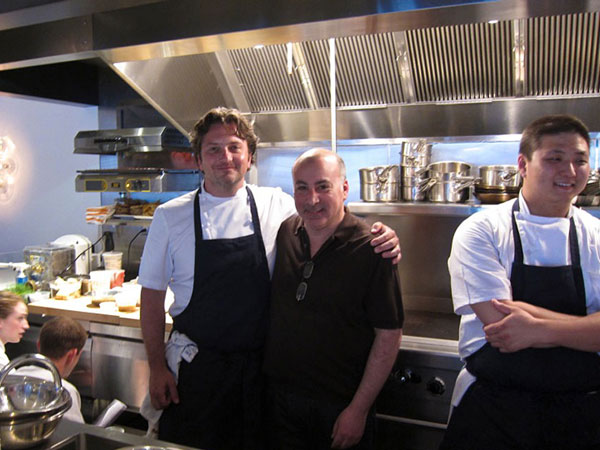 Bryan Sikora (left) with operator David Fields In better days: June 2011, just before a.kitchen opened.