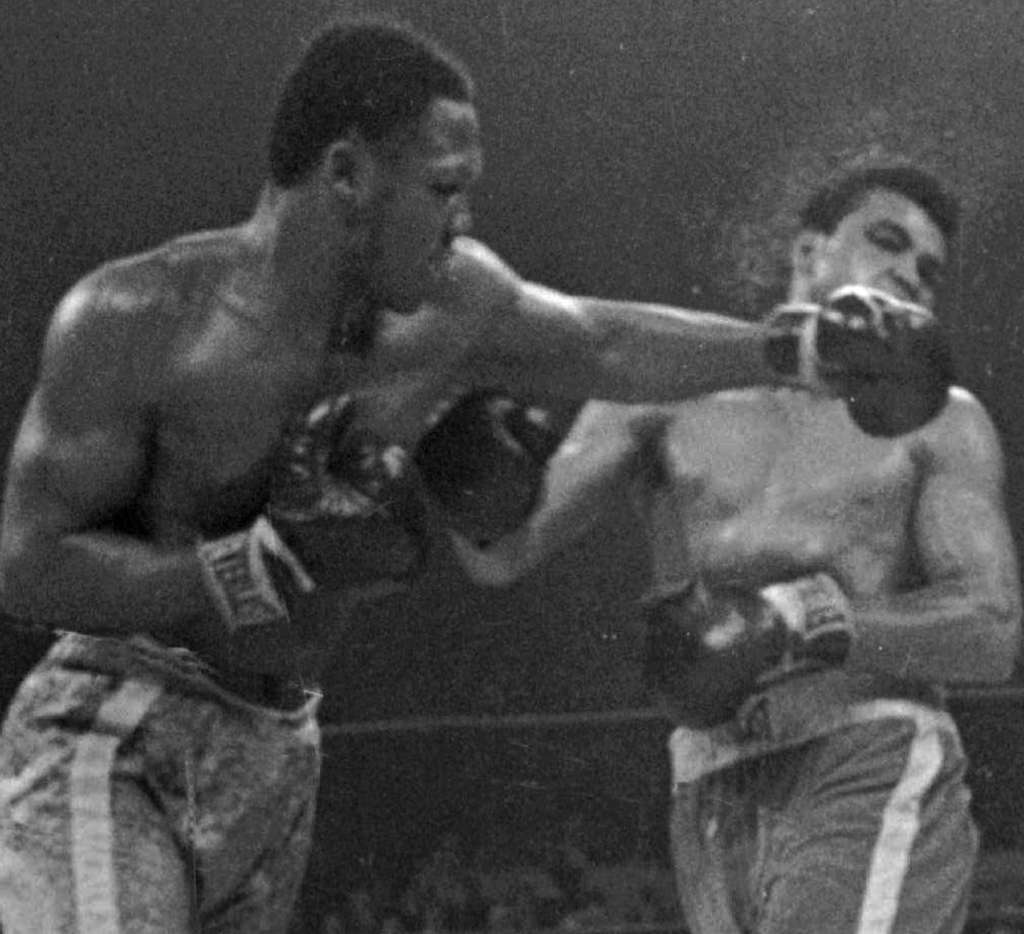 FILE PHOTO Joe Frazier, connecting against Muhammad Ali with hisfamous left hook that Bernard Hopkins believes should be bronzed.
