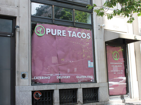 Former Pure Tacos at 1935 Chestnut St.