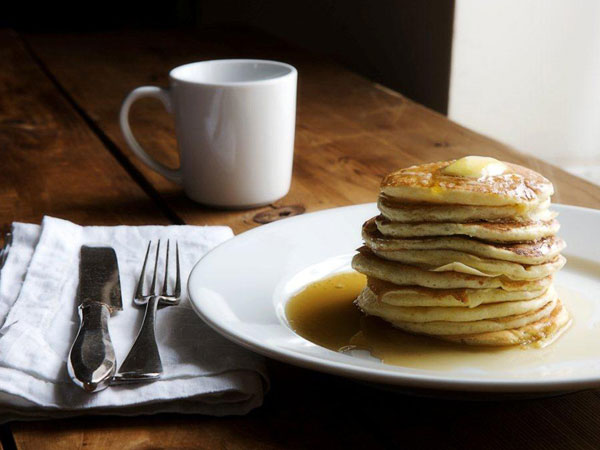 """Neen´s Buttermilk Lovecakes - """"Slather on the butter and a few good glugs of real maple syrup."""" (Canal House)"""