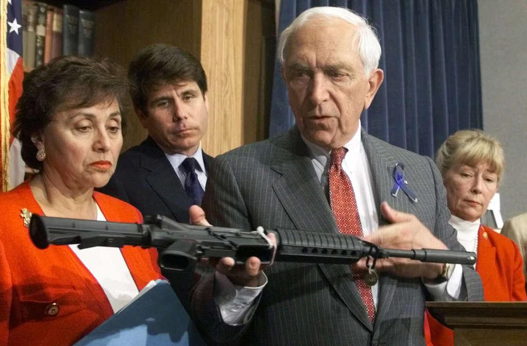 Sen. Frank Lautenberg in 1999, pushing gun-control legislation - just part of his consistent public-interest agenda.