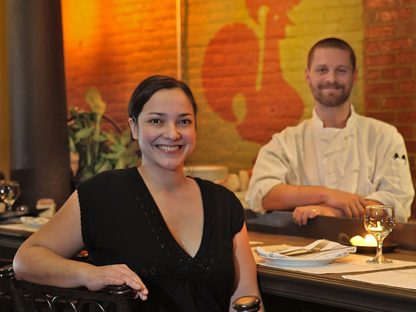 Koo Zee Doo's owners, Carla Gonçalves and chef David Gilberg.